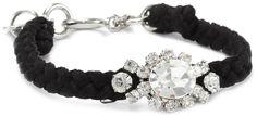 Juicy Couture Macrame and Black Rhinestone Bracelet