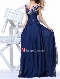 2014 Plus Size Blue See Through Chiffon Long Prom Party Dress Evening Gown US 16 in Clothing, Shoes & Accessories, Clothing, Shoes & Accessories | eBay
