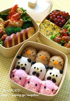 to Make You Smile: 50 Masterpieces of Sushi and Bento Box Food Art .Just to Make You Smile: 50 Masterpieces of Sushi and Bento Box Food Art . Bento Kawaii, Kawaii Cat, Bento Kids, Bento Food, Food Food, Japanese Food Art, Japanese Lunch Box, Cute Bento Boxes, Cute Baking