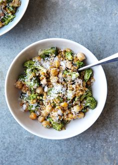Roasted Broccoli, Chickpea, and Couscous Salad