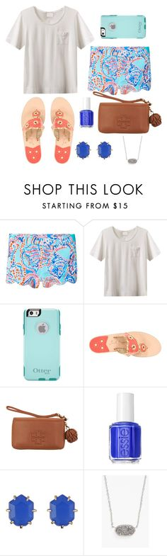 """Got some beauty products today!"" by sydneefashion ❤ liked on Polyvore featuring Lilly Pulitzer, EAST, OtterBox, Jack Rogers, Tory Burch, Essie, Kendra Scott, women's clothing, women and female"
