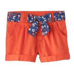 Genuine Kids from OshKosh� Infant Toddler Girls' Floral Bow Chino Short