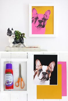 Make Your Own Pop Art Pet Portrait | Click Pic for 36 DIY Wall Art Ideas for Living Room | DIY Wall Decorating Ideas for the Home