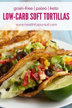 No Grains! Soft Tortilla Tacos (corn-free, paleo, dairy-free, keto + low-carb) | Healthful Pursuit | Bloglovin'