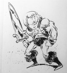 Escaping Obscurity: http://rndm.us/ux this week's MrJayMyers in Review  Here's a he-man character design.  #learning #growth #artlearning #Instagram #art #drawdaily #becomeabetterartist #winsornewton #series7