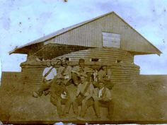 """Angol-Boer War Rice """"Pepperpot"""" blockhouse and its standard seven-man crew. This style of blockhouse was the most common due to its quick construction and cheap cost versus the stone blockhouse. Military Photos, Military History, Local History, Family History, Small Castles, War Novels, Armed Conflict, Horse Drawings, Fortification"""