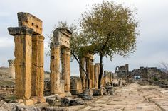 Welcome to the ancient city of #Hierapolis on our #Pamukkale one day tour from #Fethiye, #Hisaronu and #Oludeniz