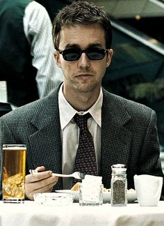 Edward Norton in David Fincher's Fight Club (1999)