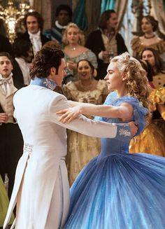 Richard Madden & Lily James in 'Cinderella' (2015).