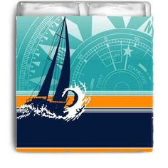 Extremely Stoked Eco Friendly Come Sail Away by NauticalBedding