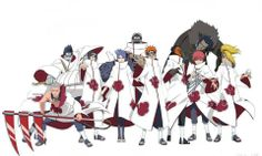 Akatsuki-- ok so akatsuki with white robes-- hmmm its kinda cool except that it makes them look... Nice- if its possible ;) although i like it better black. Hmmm...