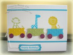 Animal Kid Birthday Card by lovemycards - Cards and Paper Crafts at Splitcoaststampers