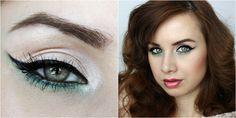 eyeliner green eyeshadow Green Eyeshadow, Eyeliner, Halloween Face Makeup, Make Up, Eye Liner, Makeup, Beauty Makeup, Eyeliner Pencil, Bronzer Makeup
