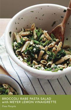 Broccoli Rabe Pasta Salad with Meyer Lemon Vinaigrette