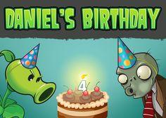 Martha Elia T's Birthday / Plants vs Zombies - Photo Gallery at Catch My Party Zombie Birthday Parties, Zombie Party, 14th Birthday, Boy Birthday, Birthday Ideas, Plants Vs Zombies, Plantas Versus Zombies, Zombie Kid, Bowling Party
