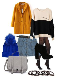 """School"" by gzmystery on Polyvore featuring Wolford, Chicnova Fashion, Ash Rain + Oak, Giuseppe Zanotti, Topshop and Free Press"