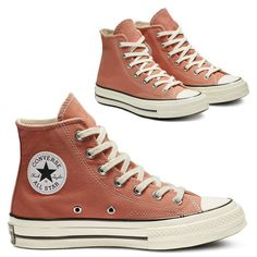 CONVERSE CT HI 1970s - DESERT.PEACH/BLACK/EGRET (NEW ANGKLE PATCH - HEELPATCH CLASSIC) My Outfit, Converse Chuck Taylor, All Star, Me Too Shoes, Fashion Shoes, High Top Sneakers, Stars, My Style, Health