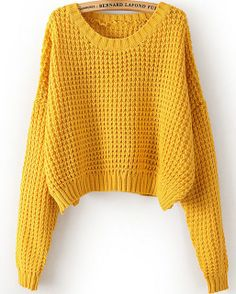 To find out about the Yellow Long Sleeve Corn Kernels Crop Sweater at SHEIN, part of our latest Sweaters ready to shop online today! Pretty Outfits, Winter Outfits, Cute Outfits, Cute Sweaters, Long Sweaters, Winter Wear, Autumn Winter Fashion, Fall Fashion, Style Fashion