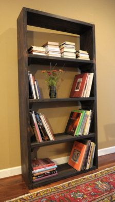 Rustic distressed bookshelf