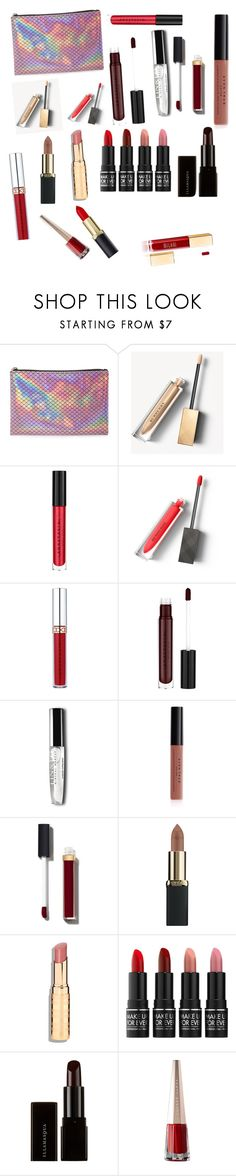 """""""Kori Ross Lipstick"""" by jessaggie ❤ liked on Polyvore featuring beauty, Forever 21, Burberry, Anastasia Beverly Hills, Avon, Chanel, L'Oréal Paris, MAKE UP FOR EVER and Illamasqua"""