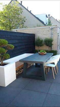 Terrace bench hard landscaping ideas, backyard landscaping, back gardens, Garden Seating, Terrace Garden, Outdoor Seating, Backyard Patio, Backyard Landscaping, Hard Landscaping Ideas, Vintage Garden Decor, Outside Living, Outdoor Gardens