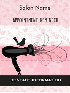 Girly Pink Floral Beauty Salon Appointment Reminder Postcards