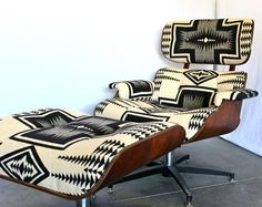 Holy hell - if only I was in San Diego - this would be MINE! Mid Century Navajo Pendleton Portland Lounge Chair