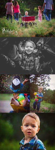 18 Month old  Session and photo poses at the park with the family