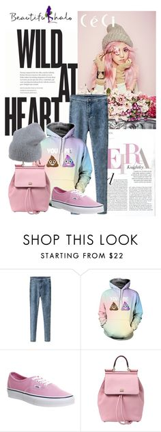 """BEAUTIUFULHALO (10)"" by amila-338 ❤ liked on Polyvore featuring Vans, Dolce&Gabbana, Erika Cavallini Semi-Couture and bhalo"