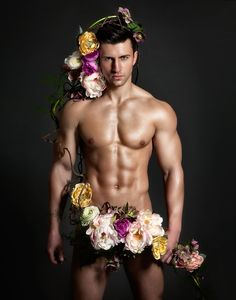 flower arrang, man with flowers, floral arrang, delici male, guy