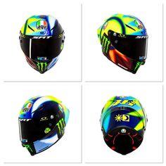 Vr46, Valentino Rossi, Motogp, Helmets, Bicycle Helmet, Yamaha, Hard Hats, Cycling Helmet, Helmet