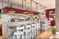 Barová stolička je vyrobená z bukového dreva. #stool #barovastolicka #furniture #nabytok #alvex #belair #design #woodstool #woodchair #stolicka #bar #restaurant #whitechair #bielastolicka #restaurant #interior Bar Chairs, Bar Stools, Food Court, Bel Air, Restaurant, Furniture, Design, Home Decor, Linz