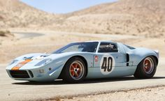 """The Ford 1968 is one of the most famous classic racing cars on the planet today. Steve McQueen chose it for his movie """"Le Mans"""" making it even more iconic. It was so widely known yet so rare and so all the reason for the car to be sold for 11 million in Ford Gt40, Ford Mustang Gt, Ford Shelby, Mustang Fastback, Jaguar Xj220, Steve Mcqueen, Impala Chevrolet, Supercars, Street Rods"""