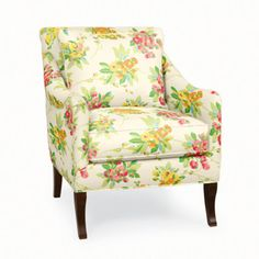 Charleston Chair in Tahitian Floral Ivory