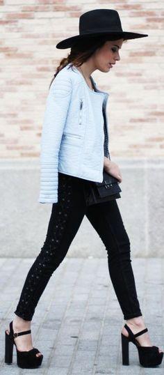 Sita Murt @ 080 Barcelona - pastel biker black block heels