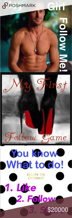 🎉My first FOLLOW GAME!🎉 MY VERY FIRST FOLLOW GAME!🙌🏼 I AM SO EXCITED TO GAIN MORE FOLLOWERS AND CHECK OUT GORGEOUS NEW CLOSETS! PLEASE LIKE, SHARE AND FOLLOW! PLEASE COME BACK AND ADD FOLLOWERS!!!💃 PLEASE TAG YOUR PFFS!!! Other