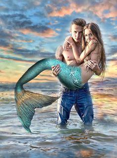 Escape by DesignbyKattt- Katt Amaral art mermaid,