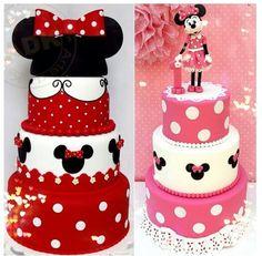 Cute!!!! Minnie mouse cake!