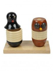 Owl & Penguin tooth pick holders