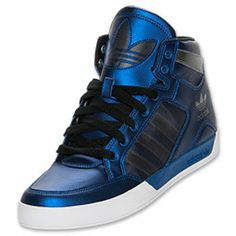 Men's adidas Originals Hardcourt Hi Casual Shoes | FinishLine.com | Black/Metallic Blue