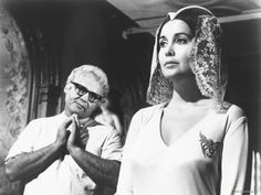 """""""the loved one"""" - Mr. Joyboy (Rod Steiger) & Aimee Thanatogenous (Anjanette Comer)"""