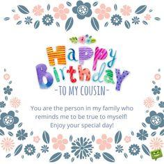 Happy Birthday, Cousin