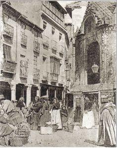 1880 La Plaza del Corrillo existe desde antes de la construcción de la Plaza Mayor. En su solar estaba la amplia, extensa y d... Murcia, Plaza, Spain, Places To Visit, Dracula, Street, Antiques, Homework, Solar