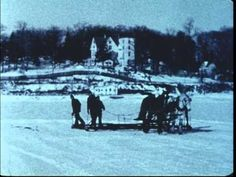Ice Cutting on Bunnell Pond, Beardsley Park, 1932-1939