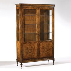 950 Inlaid Wood Cabinet