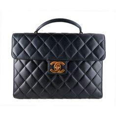 Chanel Jumbo Caviar Black Briefcase Portfolio 2.55 CC Work Bag