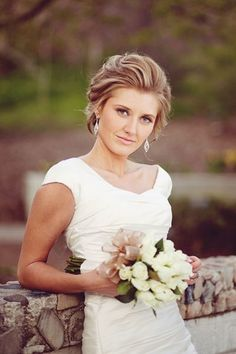 Chignon - I like how this looks in front (Emma's Wedding? Wedding Hair Front, Short Wedding Hair, Wedding Hairstyles For Long Hair, Elegant Hairstyles, Wedding Hair And Makeup, Wedding Updo, Bride Hairstyles, Bridal Hair, Hair Makeup