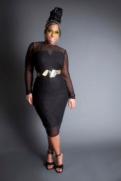 Sheer pencil dress by jibri