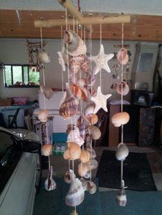 Seashell windchimes