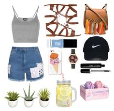 """""""summer"""" by udggv24 on Polyvore featuring Topshop, House of Holland, Gianvito Rossi, Chloé, Nike Golf, JINsoon, Olivia Burton, Kate Spade and Marc Jacobs"""